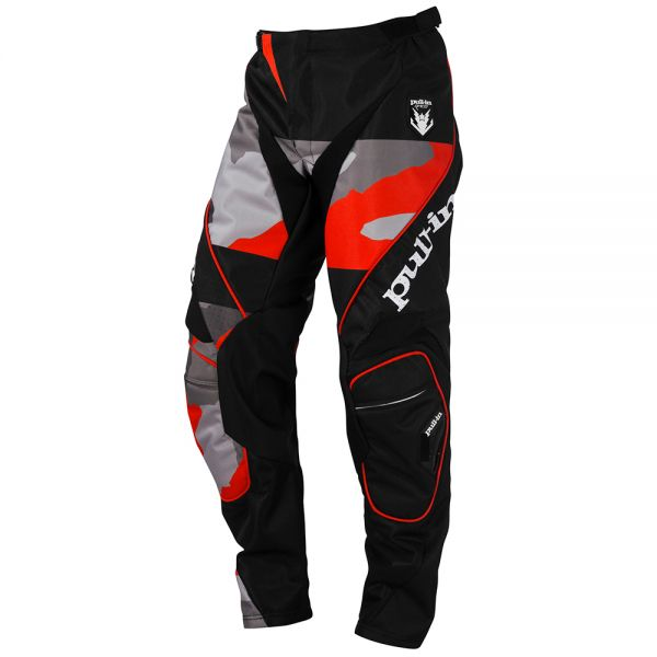 Pantalon Cross pull-in Fighter Camo Black Orange Pant