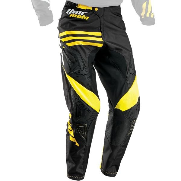 Pantalon Cross Thor Phase Strands Black Yellow Pant