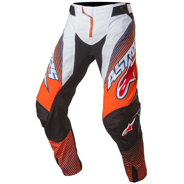 Pantalon Cross Alpinestars Techstar Factory Orange Fluo Blue Pant