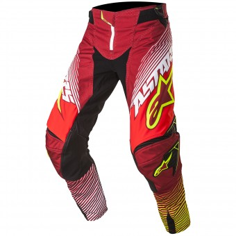 Pantalon Cross Alpinestars Techstar Factory Red Yellow Fluo Pant