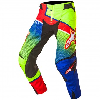 Pantalon Cross Alpinestars Techstar Venom Blue Yellow Fluo Pant