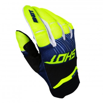 Gants Cross SHOT Aerolite Optica Blue Yellow