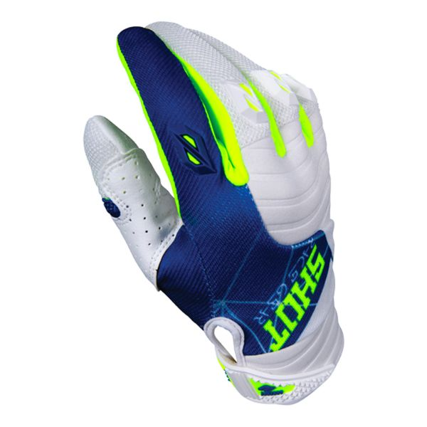 Gants Cross SHOT Contact Infinite Blue White Yellow