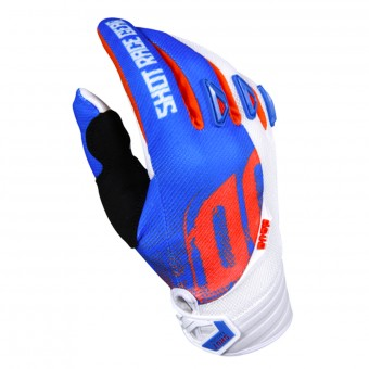 Gants Cross SHOT Devo Venom Blue White Orange Enfant