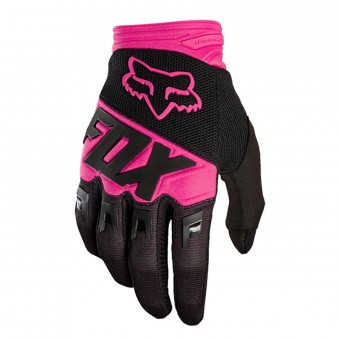 Gants Cross FOX Dirtpaw Race Black Pink Enfant 285