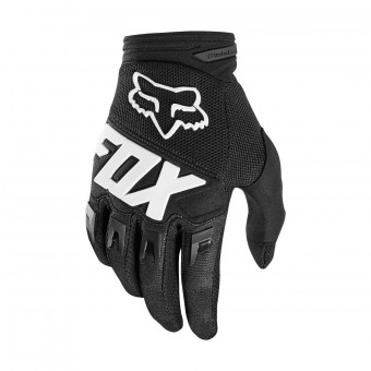 Gants Cross FOX Dirtpaw Race Black White 001