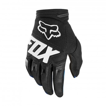 Gants Cross FOX Dirtpaw Race Black White Enfant 001
