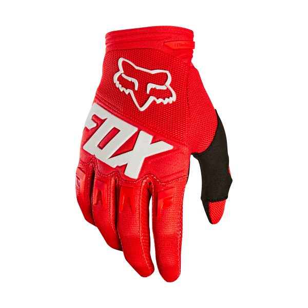 Gants Cross FOX Dirtpaw Race Red White 003