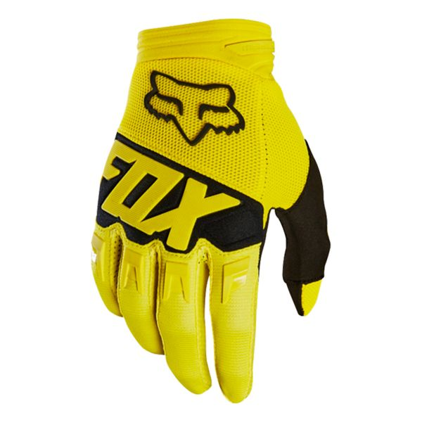 Gants Cross FOX Dirtpaw Race Yellow Black 005