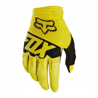 Gants Cross FOX Dirtpaw Race Yellow Black Enfant 005