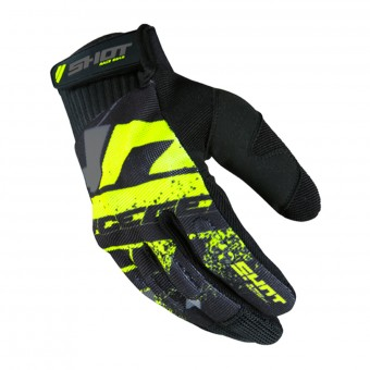 Gants Cross SHOT Drift Neon Yellow CE