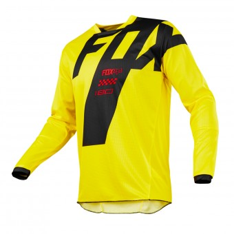 Maillot Cross FOX 180 Mastar Yellow Enfant 005