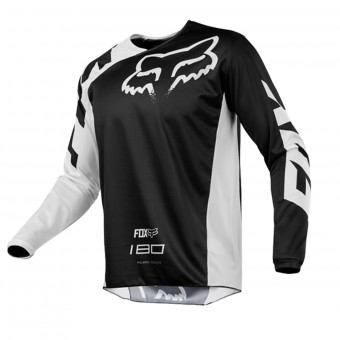 Maillot Cross FOX 180 Race Black White Enfant 001
