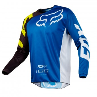 Maillot Cross FOX 180 Race Blue White Enfant 002