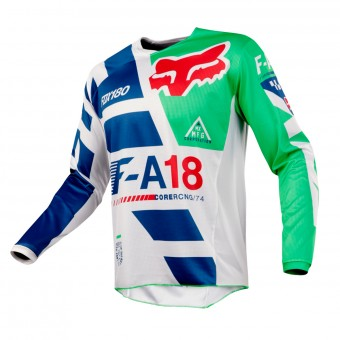 Maillot Cross FOX 180 Sayak Green Enfant 004