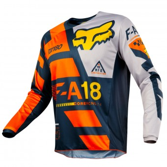 Maillot Cross FOX 180 Sayak Orange Enfant 009