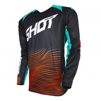 Maillot Cross SHOT Aerolite Optica Mint Orange