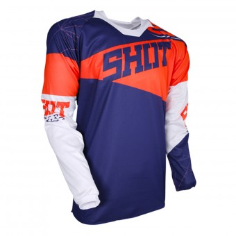 Maillot Cross SHOT Contact Infinite Blue Neon Orange