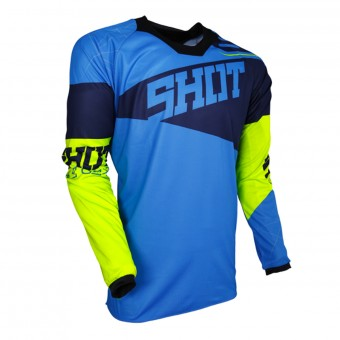 Maillot Cross SHOT Contact Infinite Blue Neon Yellow