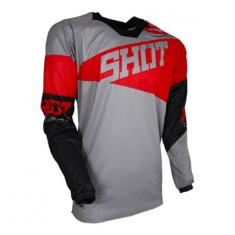 Maillot Cross SHOT Contact Infinite Grey Red