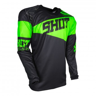 Maillot Cross SHOT Contact Infinite Neon Green