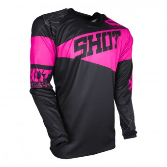Maillot Cross SHOT Contact Infinite Neon Pink