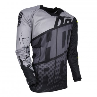 Maillot Cross SHOT Contact Venom Grey Black