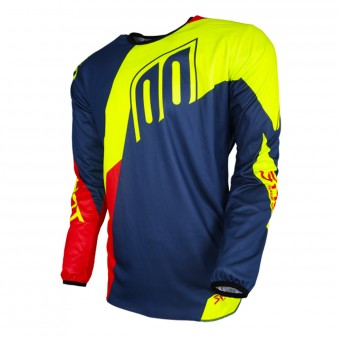 Maillot Cross SHOT Devo Alert Blue Red Neon Yellow