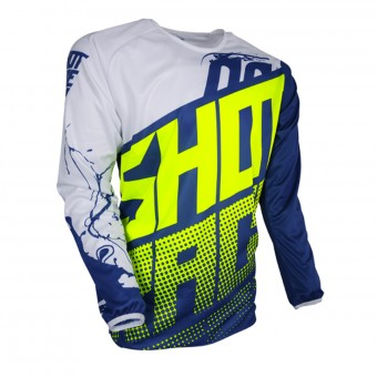 Maillot Cross SHOT Devo Venom Blue Neon Yellow Enfant