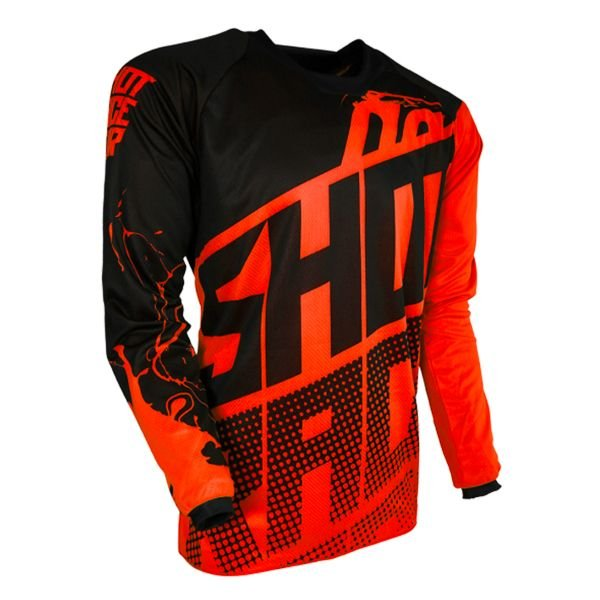 Maillot Cross SHOT Devo Venom Neon Orange Enfant