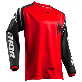 Maillot Cross Thor Sector Zones Red