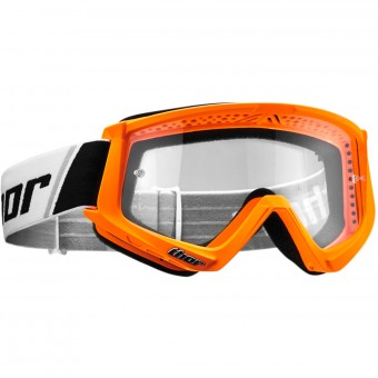 Masque Cross Thor Combat Orange Fluo Black