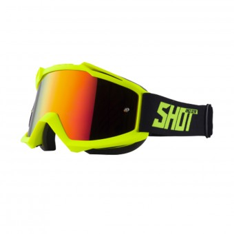 Masque Cross SHOT Iris Neon Yellow Matt Iridium Red