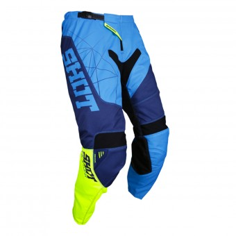 Pantalon Cross SHOT Contact Infinite Blue Neon Yellow Pant