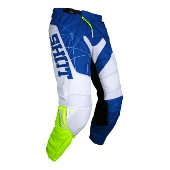 Pantalon Cross SHOT Contact Infinite Blue White Neon Yellow Pant