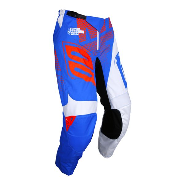 Pantalon Cross SHOT Devo Venom Blue White Neon Orange Pant Enfant