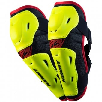 Coudieres Cross Kenny Elbow Guards Neon Yellow Enfant