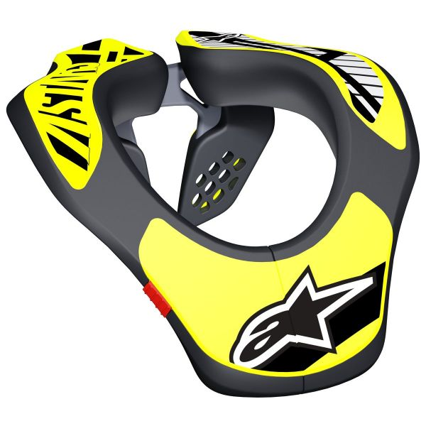 Protections cervicales Alpinestars Youth Neck Support Black Yellow Fluo