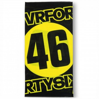Foulard et tour de cou VR 46 Neck Tube Black Yellow VR46