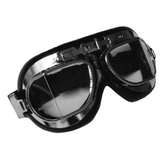 Masque Moto Torx Air Force Noir Chrome - Incolore