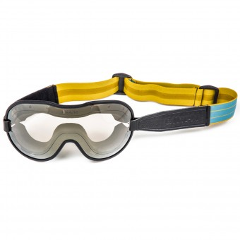 Masque Moto Ethen Masque Cafe Racer Jaune Bleu