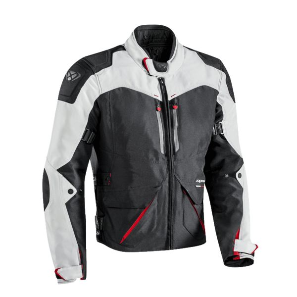 Blouson Moto Ixon Arthus Black Grey Red