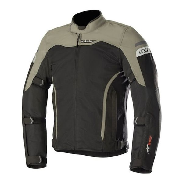 Blouson Moto Alpinestars Leonis Drystar Air Black Military Green