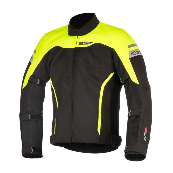 Blouson Moto Alpinestars Leonis Drystar Air Black Yellow Fluo