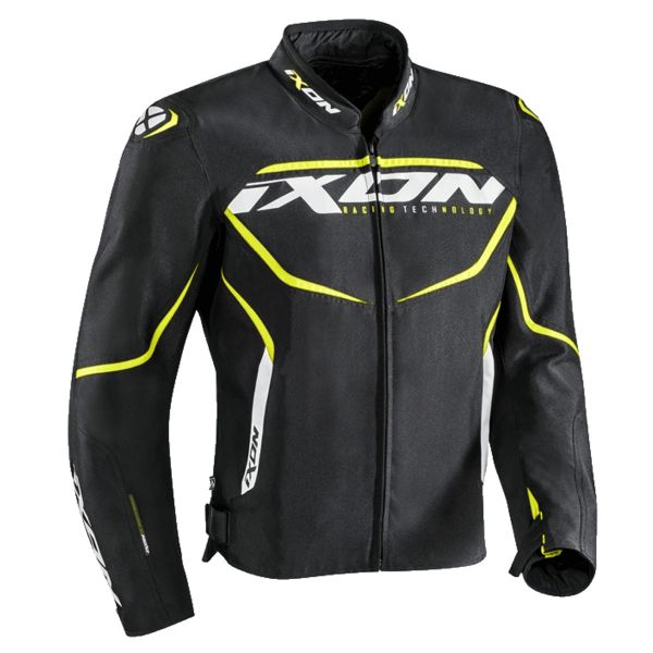 Blouson Moto Ixon Sprinter Black Yellow Fluo