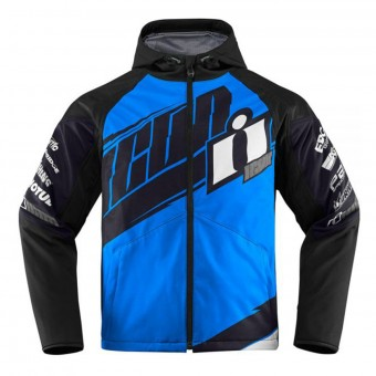 Blouson Moto ICON Team Merc Blue