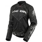 Blouson Moto ICON Contra Speed Queen Black