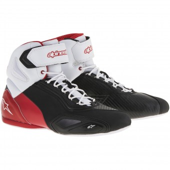 Baskets Moto Alpinestars Faster 2 Black White Red