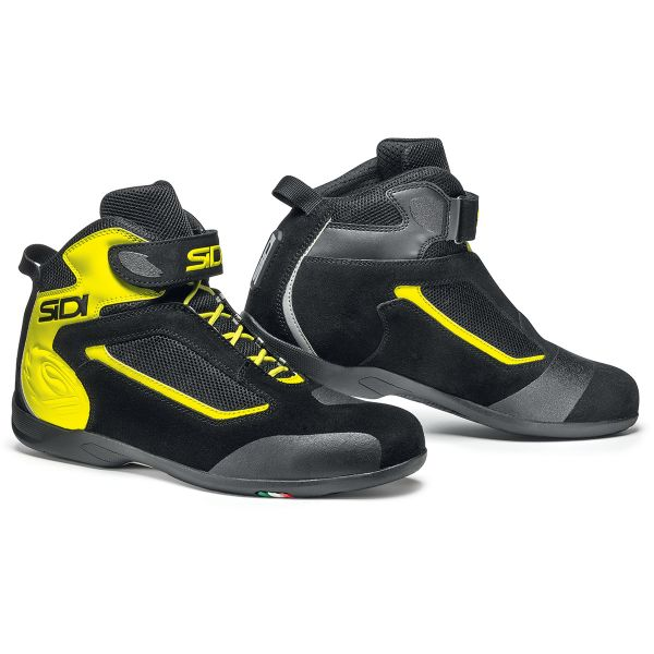 Baskets Moto SIDI Gas Black Yellow Fluo