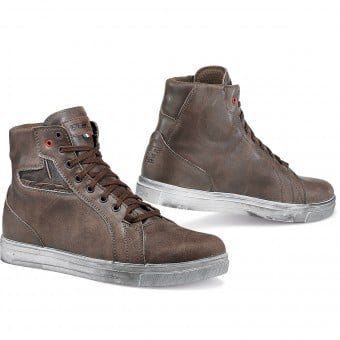 Baskets Moto TCX Street Ace Waterproof Coffee Brown